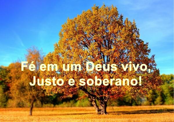 Fé em um Deus vivo, Justo e soberano! - Conselheiro Cristão