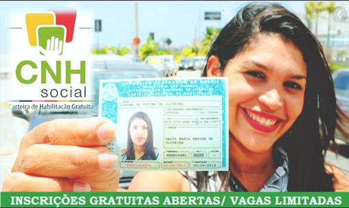 Detran Abre Inscrições Para CNH Gratuita – CNH SOCIAL e Grauita 2019 - Oportunidade, site Conselheiro Cristao