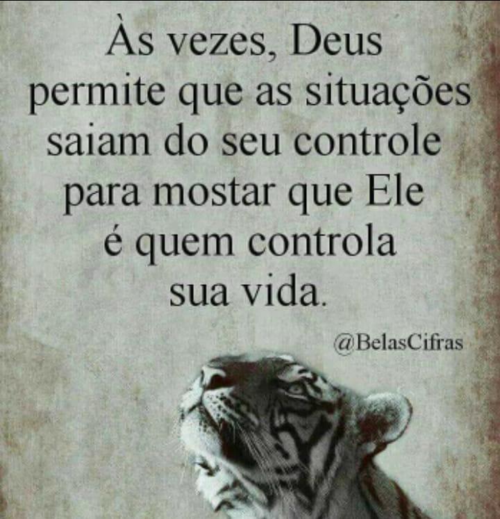 Deus esta no controle - Deus sempre está no controle