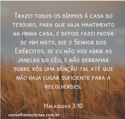 Interpretação de Malaquias 3:10