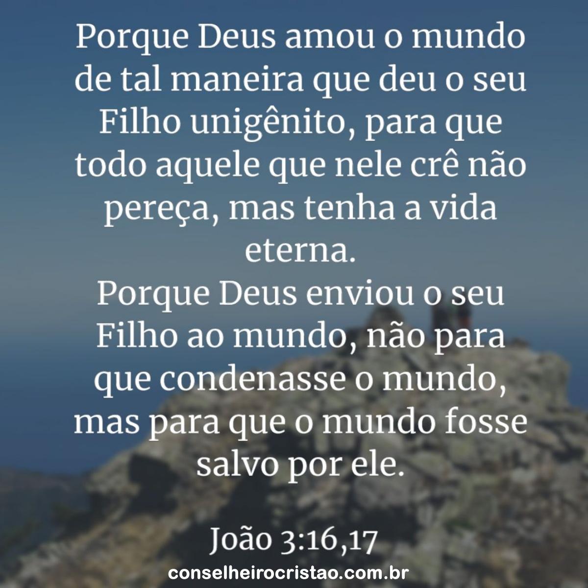 Joao 3 verso 16 - Versículos Bíblicos