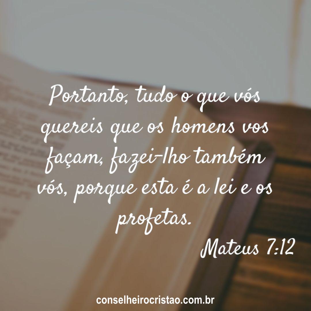Mateus 7 12 - Versículos Bíblicos