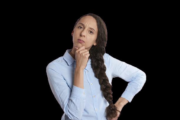 Mulher pensando Fundo transparente - Por que Você se Aborrece Tanto?